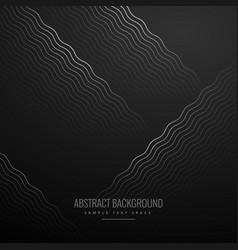 Abstract curve zig zag lines in black background vector