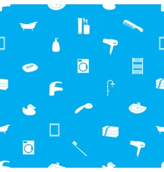 bathroom icons pattern eps10 vector image