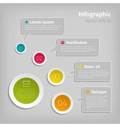 digital infographic vector image vector image