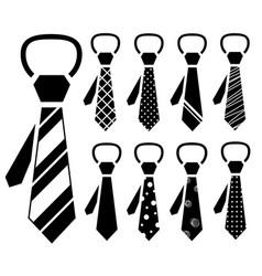 necktie icon set vector image vector image