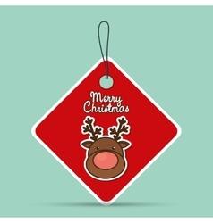 reindeer merry christmas design vector image