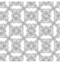Seamless decorative zentangle graphic pattern vector image vector image