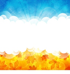 Sunny background with leaves vector image