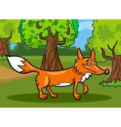 wild fox animal cartoon vector image vector image