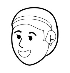 happy young women face vector image