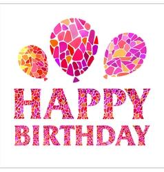 Original Happy Birthday Card with balloons vector image
