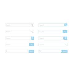 search bar design set vector image vector image