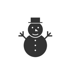 snowman black icon vector image