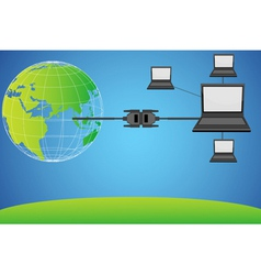 world wide networking vector image
