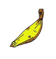 banana cartoon hand drawn image vector image vector image