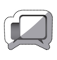 grayscale square chat bubbles icon vector image vector image