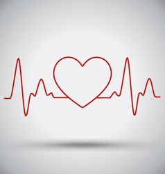 Heartbeat Connect Heart Shape and EKG Medical vector image