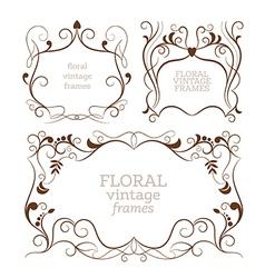 Set of elegance vintage frames vector image