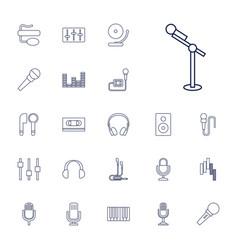 22 studio icons vector