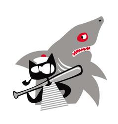 a real sailor sea cat vector image