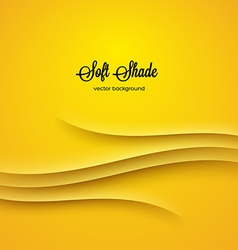 Abstract background with yellow shadow ornament vector image