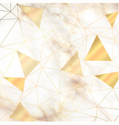 Abstract low poly design on marble style texture vector