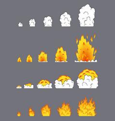 Animation explosion effect in cartoon comic vector