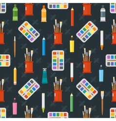 Art tools seamless pattern ector vector image