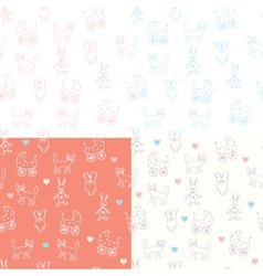 baby wallpaper print vector image
