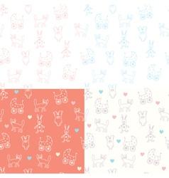 Baby wallpaper print vector