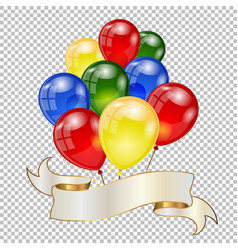 background with balloons vector image
