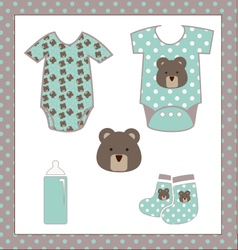 Bear Baby Shower vector