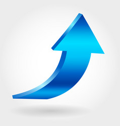 blue arrow pointing upwards vector image