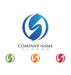 Business corporate s letter logo design vector