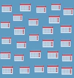calendar background pattern vector image