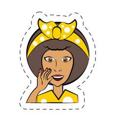 cartoon woman expression image vector image
