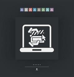 Clapboard computer icon vector
