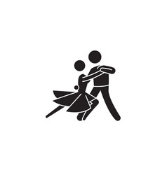 classical dance black concept icon vector image