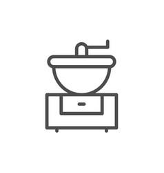 coffee grinder line icon vector image