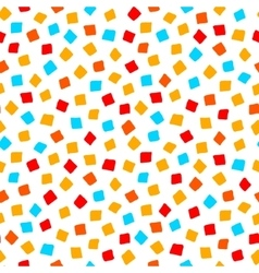 Colorful red orange yellow blue square shape vector
