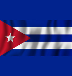 Cuba realistic waving flag national country vector
