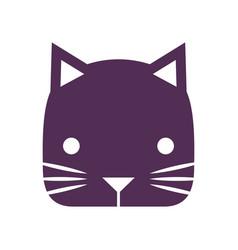 Cute little cat icon vector