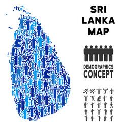 demographics sri lanka island map vector image