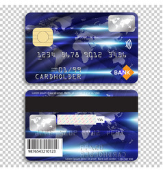detailed glossy credit card isolated on background vector image