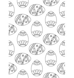 Easter eggs pattern seamless background vector
