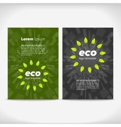 Eco leaflet design vector image