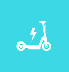 electric kick scooter icon vector image