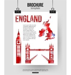 England travel background Brochure with Great vector image