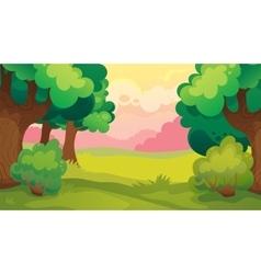 Evening Leaf Forest Landscape vector image