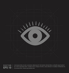 eye icon - black creative background vector image
