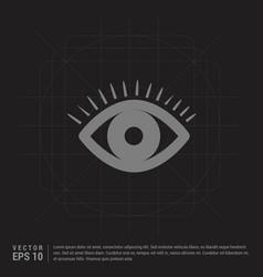 eye icon - black creative background vector image