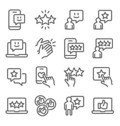 feedback rating icons set vector image
