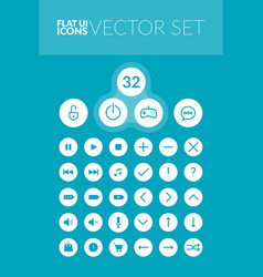 flat line icons set vector image