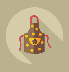 Flat modern design with shadow icons apron vector