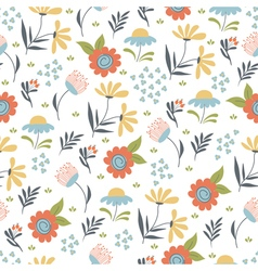 Floral summer pattern vector